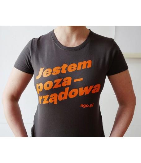 Pozarządowa koszulka damska [szara]