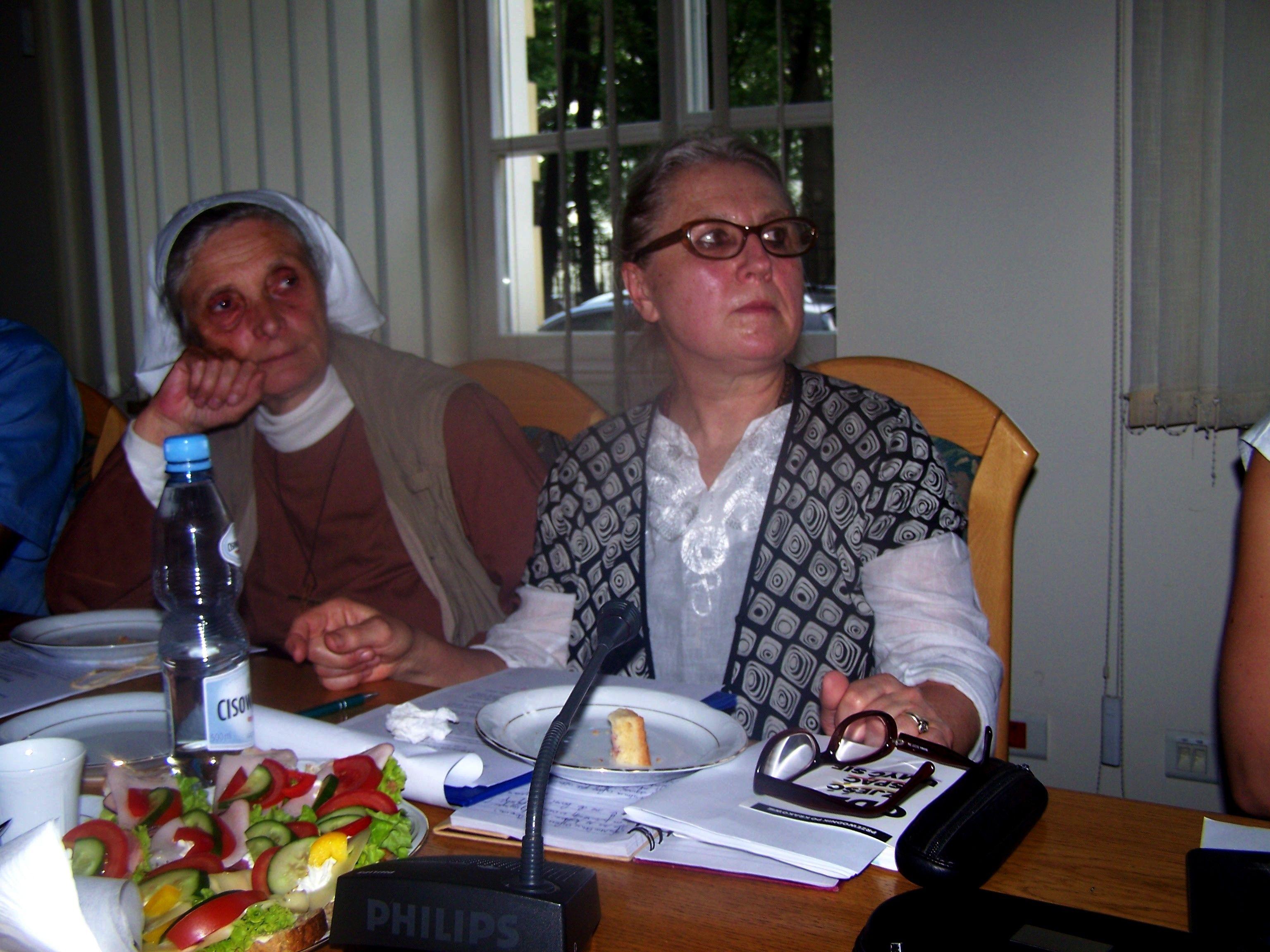 Siostra Małgorzata Chmielewska, Mirosław Widurek, spotkanie zespołu senioralnego RDPP 29 sierpnia 2019 r.