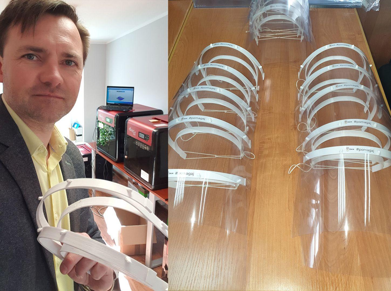 Paweł Sikora drukuje przyłbice na drukarkach 3D