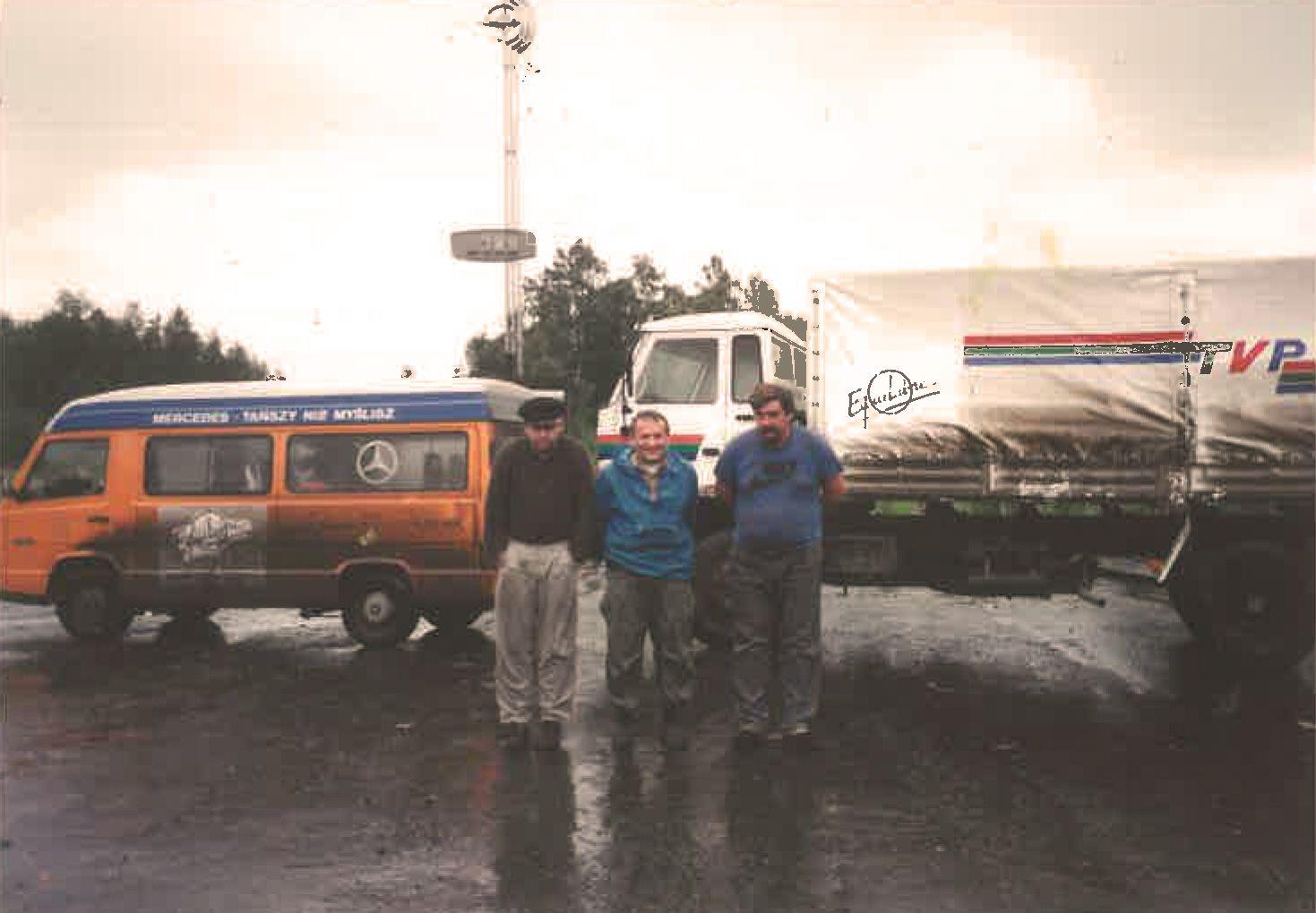 1994 rok, Henryk Wujec (po środku) i Jakub Wygnański (po lewej)
