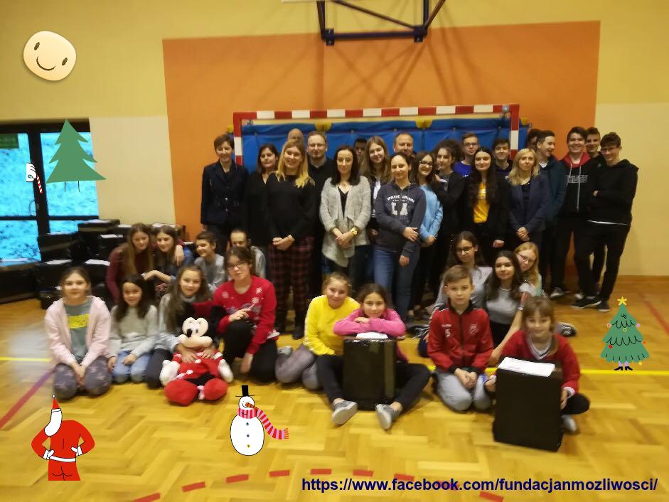 2018 - Akcja wysyłki paczek z wolontariatem szkolnym z powiatu wadowickiego w 2018 roku