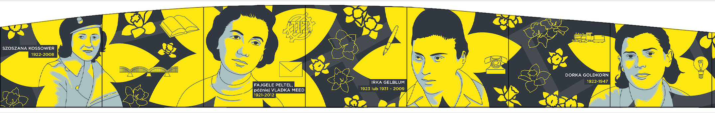 Fragment projektu muralu na rocznicę powstania w getcie warszawskim, akcja Żonkile