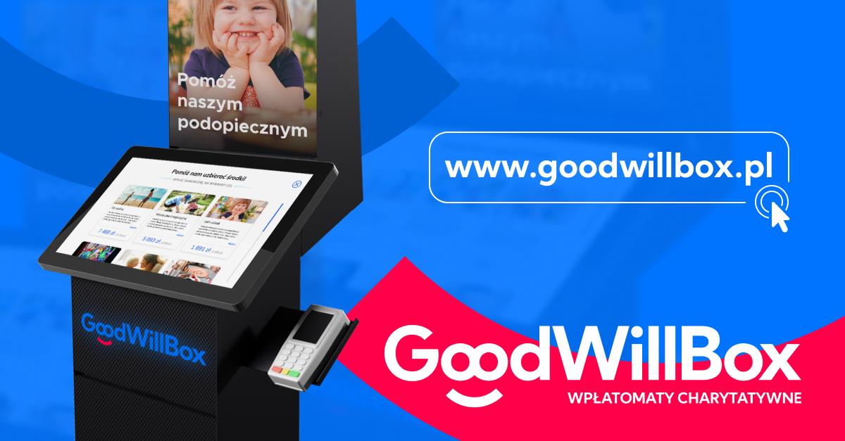 Nowoczesne wpłatomaty charytatywne GoodWillBox