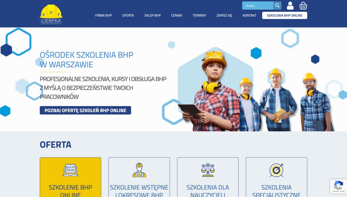 Strona www.bhp-ciolka.com.pl