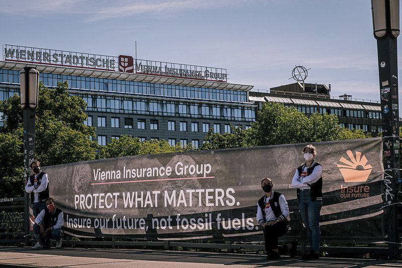 Protest pod siedzibą VIG