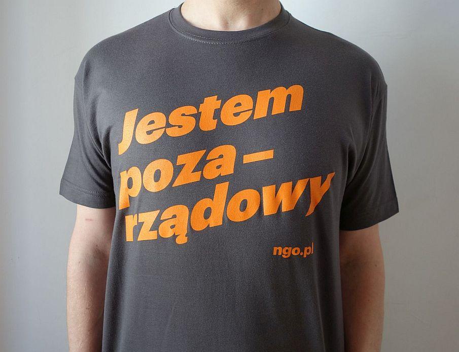 Pozarządowa koszulka męska [szara]