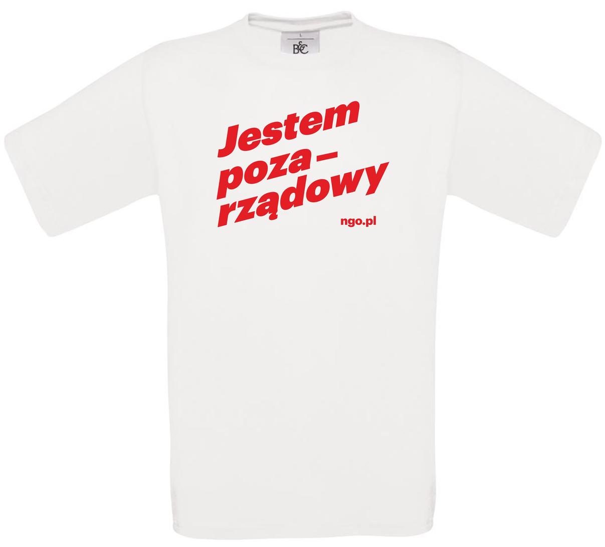 Pozarządowa koszulka męska [biała]