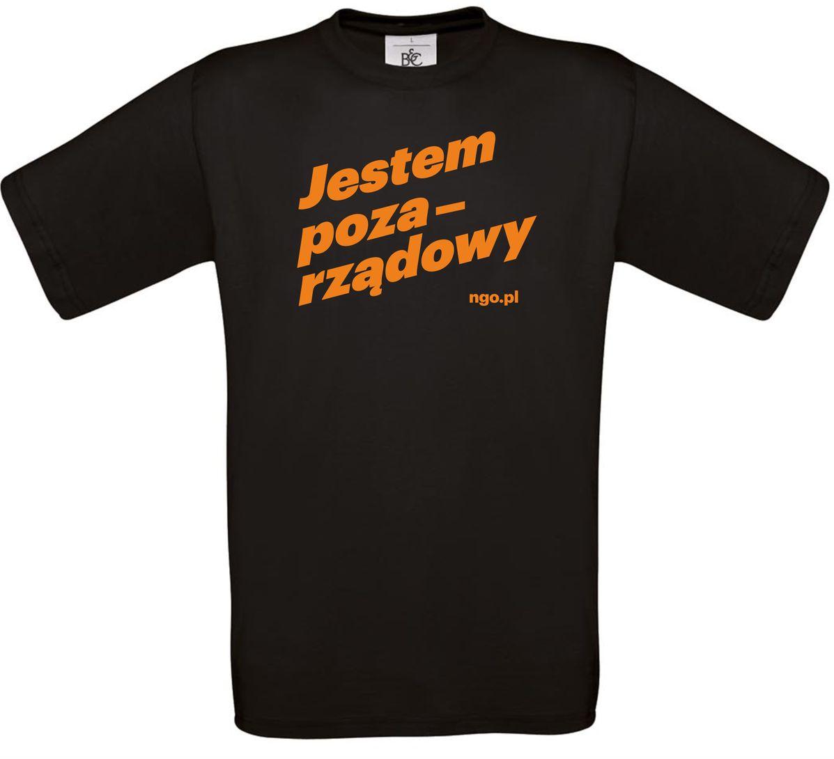 Pozarządowa koszulka męska [czarna]