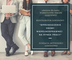 Miniatura REINTEGRATOR ZAWODOWY - szkolenia dla kadry Warsztatów Terapii Zajęciowej