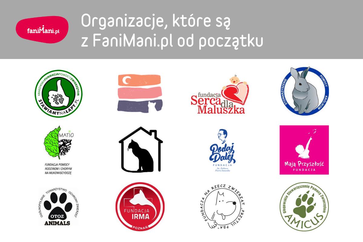 Organizacje, które są z FaniMani.pl od początku
