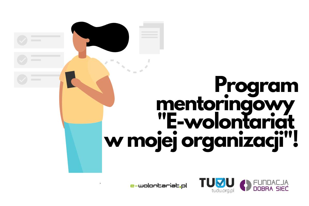 Grafika E-wolontariat w mojej organizacji