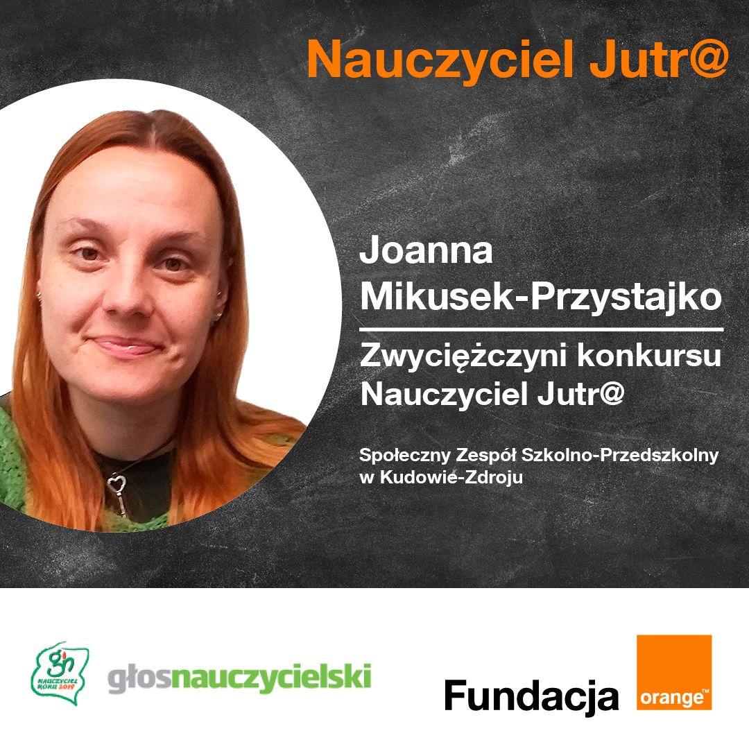 Joanna Mikusek-Przystajko, nauczycielka etyki w Społecznym Zespole Szkolno-Przedszkolnym w Kudowie Zdroju