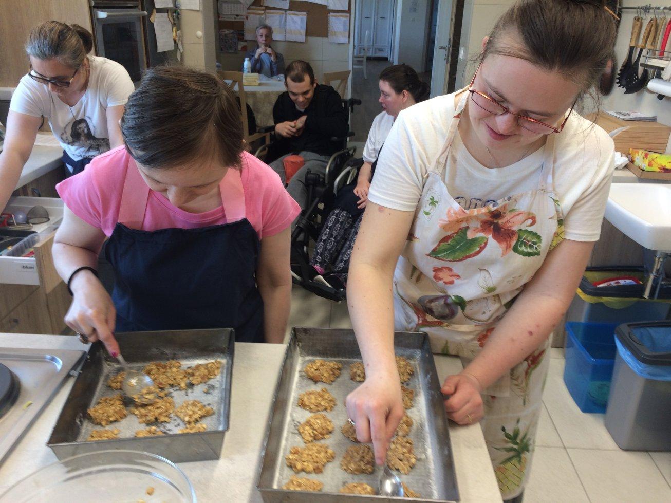 pieczenie ciastek owsianych