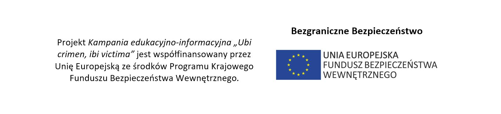 projekt współfinansowany z Funduszu Bezpieczeństwa Wewnętrznego
