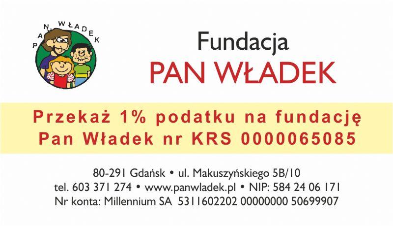 """przekaż 1% na rzecz Fundacji Pomocy Społecznej na rzecz Dzieci """"Pan Władek"""""""